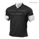 Better Bodies Collar Tee wash black