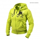 Hoodie women yellow lime